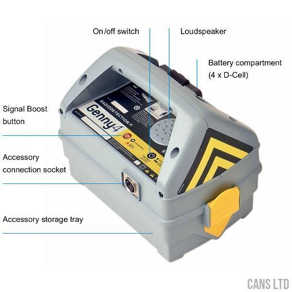 Radiodetection CAT4+ Cable Avoidance Tool (50Hz) with Metric Depth; StrikeAlert - CANS LTD