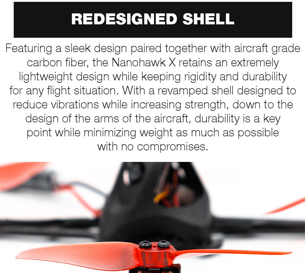 EMAX Nanohawk X 3 Inch Toothpick BNF Drone Redesigned Shell Canopy