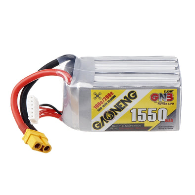 GNB 1550mAh 18.5v 5S 100C - XT60 Lipo Battery with Plastic Plate