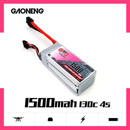 GNB 1500mAh 14.8v 4S 130C - XT60 Lipo Battery with Plastic Plate