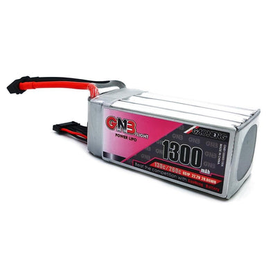 GNB 1300mAh 22.2v 6S 130C - XT60 Lipo Battery with Plastic Plate