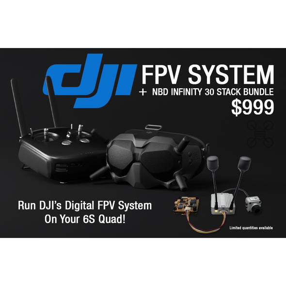 DJI FPV Fly More Combo +( NewBeeDrone Infinity305 Stack) Bundle + Free Carrying Case!