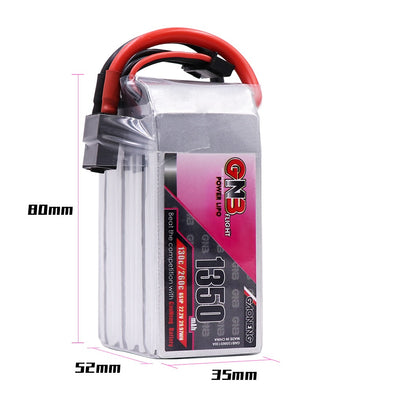 GNB 1350mAh 22.2v 6S 130C - XT60 Lipo Battery with Plastic Plate