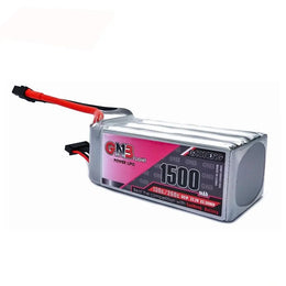 GNB 1500mAh 22.2v 6S 130C - XT60 Lipo Battery with Plastic Plate