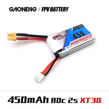 GNB 450mAh 7.4v 2S 80C - XT30 Square Lipo Battery
