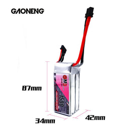 GNB 1500mAh 18.5v 5S 130C - XT60 Lipo Battery with Plastic Plate