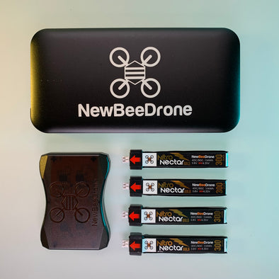 Ultimate Power Package - (NewBeeDrone Power Bank x1 -- Nitro Nectar Gold 300mAh Batteries x4 -- Nectar Injector Charger x1)