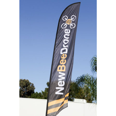 NewBeeDrone 16 foot Tall Race Flag - Flags and Gates - NewBeeDrone - NewBeeDrone FPV Shop - 1