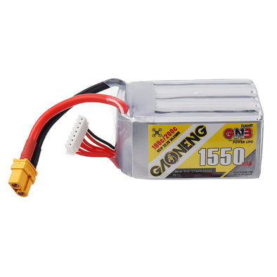 GNB 1550mAh 22.2v 6S 100C - XT60 Lipo Battery with Plastic Plate