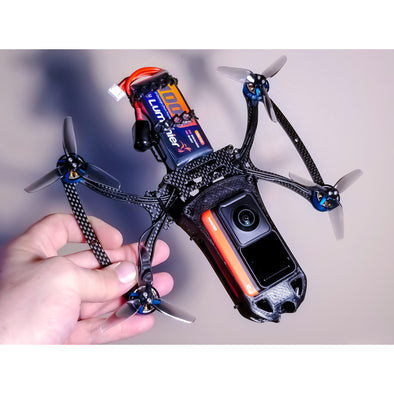 Cine-Bird FPV Frame Kit - One-R Edition w/ INVISIBLE DRONE Feature (for Insta360 One R 360 camera)