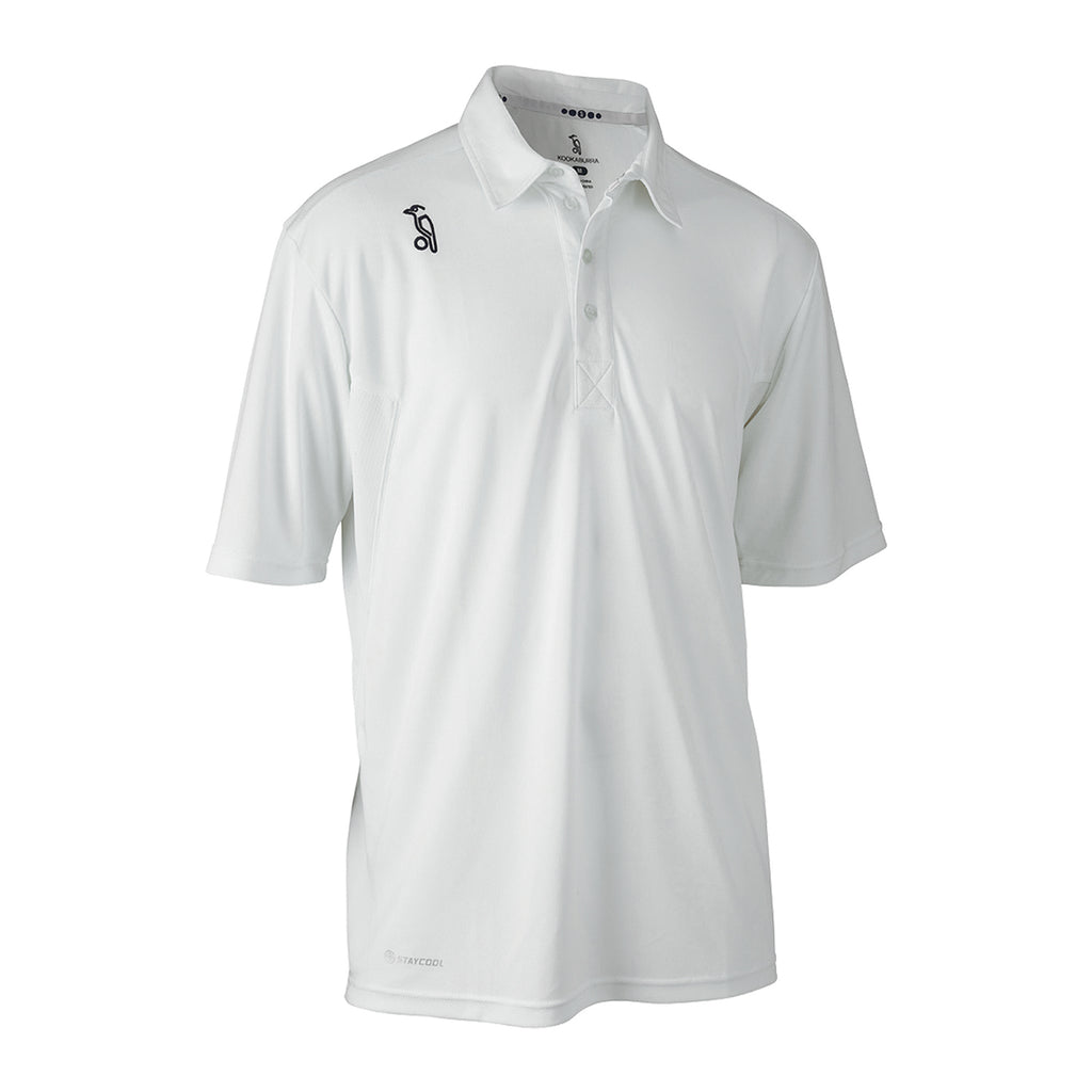 Kookaburra Pro Active Short Sleeve White Shirt