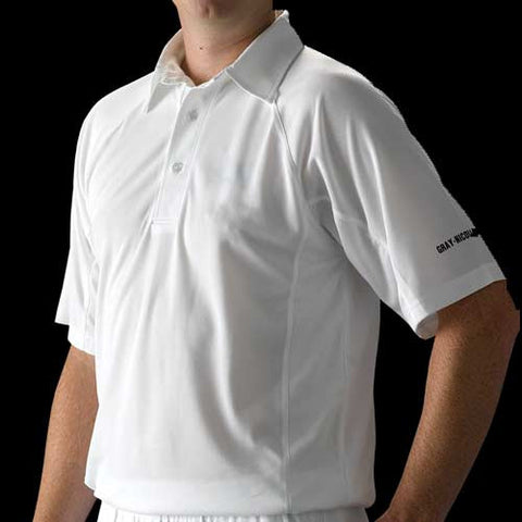 Gray-Nicolls Shirt - Elite Mid Sleeve Senior White