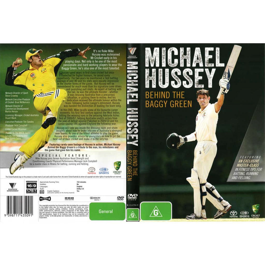 DVD - Michael Hussey Behind the Baggy Green