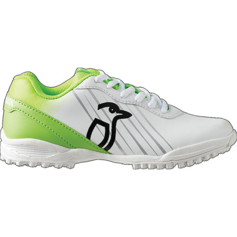 Kookaburra Pro 500 Rubber Sole Junior Shoe - White/Lime