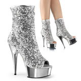 "Delight-1008SQ Sequin 6"" Ankle Boots"