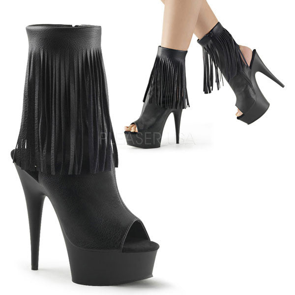 Delight-1019 Fringed Ankle Boots
