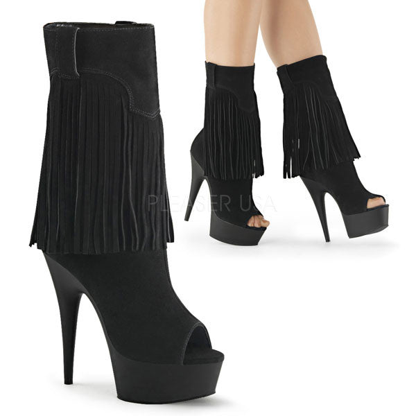 Suede Fringed Boot