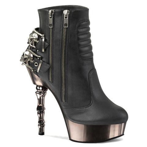 Muerto-900 Skull Buckle Ankle Boots