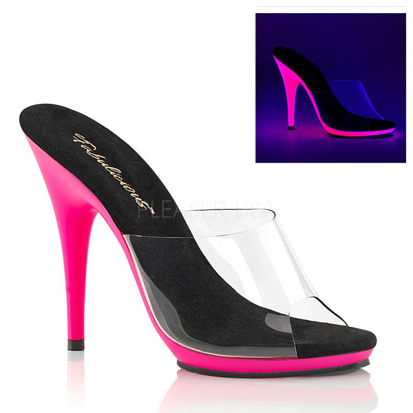 Poise-501UV Neon High Heel Mule