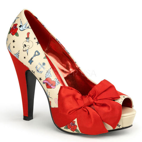 Pinup Couture BETTIE-13 Peep Toe Pump
