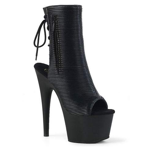 Adore-1018 Black Quilted Ankle Boots