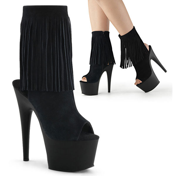 Adore-1019 Suede Fringe Ankle Boots