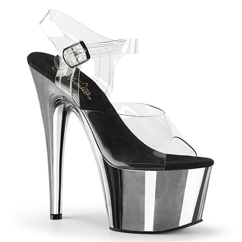 Adore-708 Chrome Heel Platform Sandals