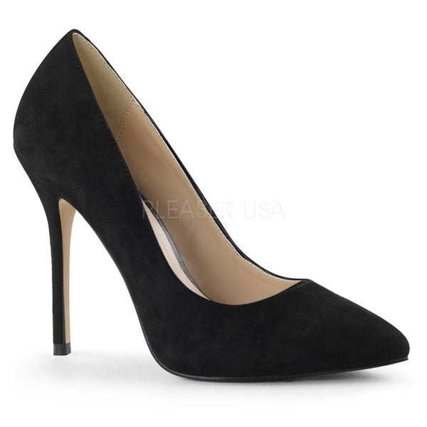 Pleaser AMUSE-20 Black Suede Pumps
