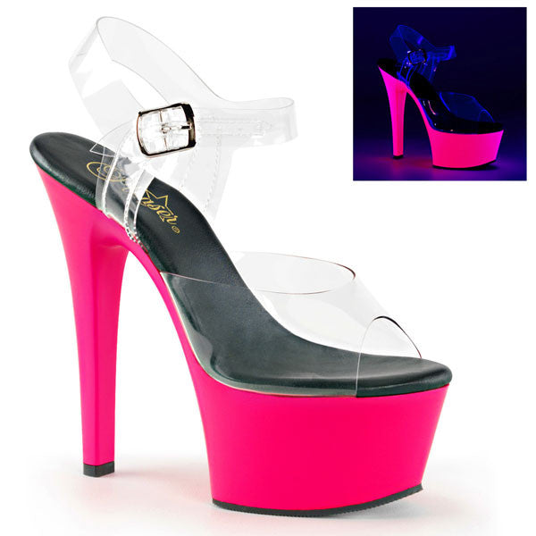 Pleaser ASPIRE-608UV Neon Platform Sandals