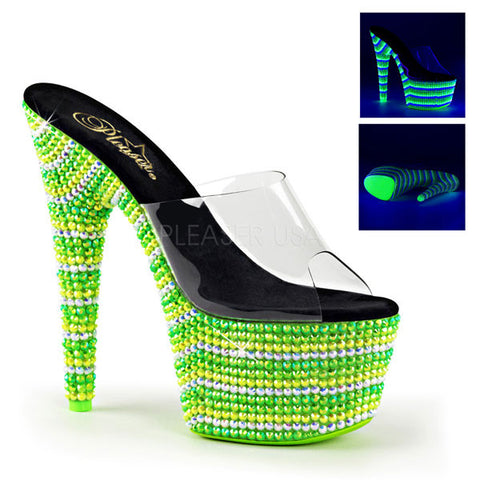 Pleaser BEJEWELED-701UV Platform Slide