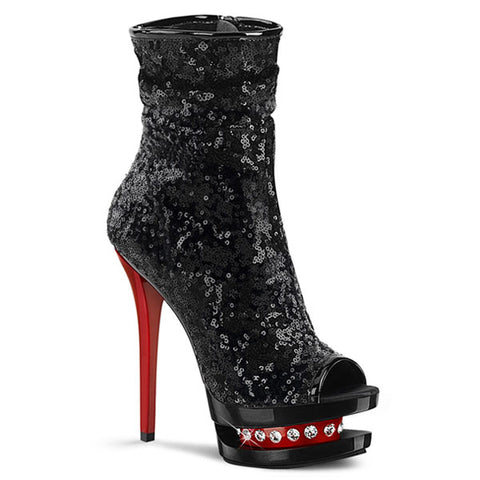 "Blondie-R-1008 Sequined 6"" Ankle Boot"