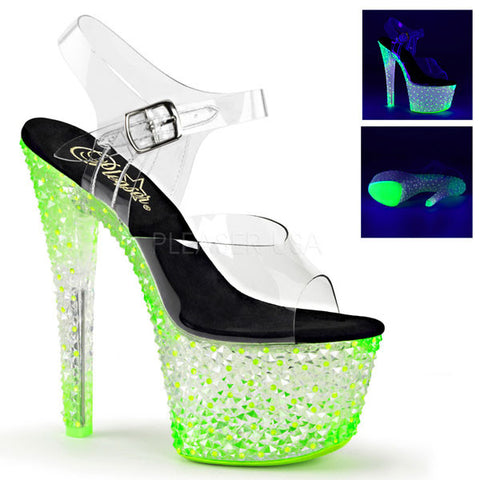 Crystalize-308PS Neon Platform Sandal