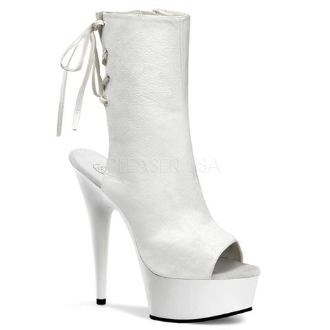 Pleaser DELIGHT-1018 Open Toe Boot