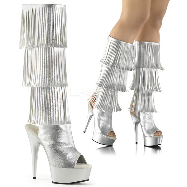 Fringed Knee-High Boot