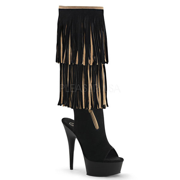Pleaser DELIGHT-2059TT Suede Fringe Boot