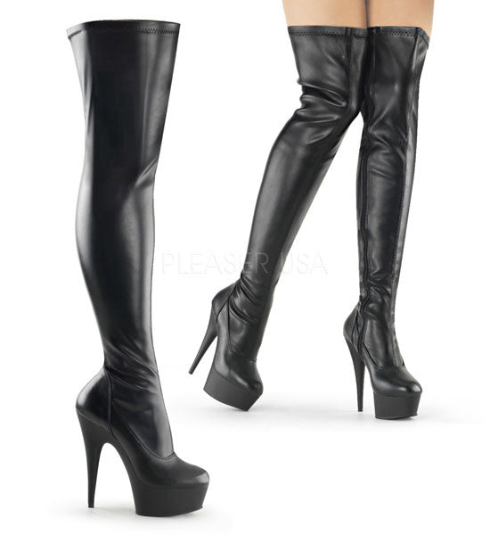 Pleaser DELIGHT-3000 Thigh High Boot