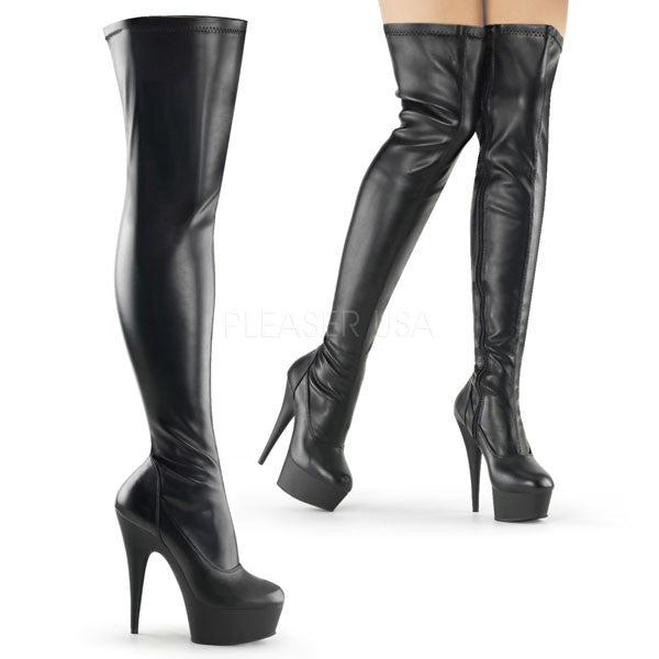 "Delight-3000 6"" Thigh High Platform Boot"
