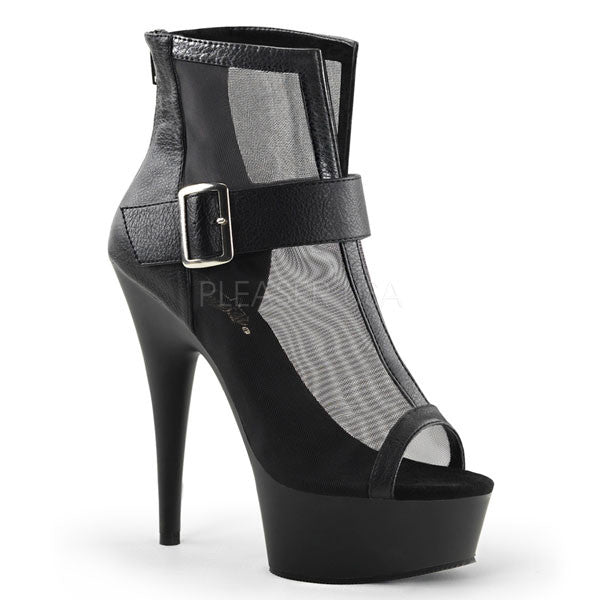 Pleaser DELIGHT-600-23 Mesh Ankle Boot