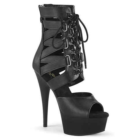 DELIGHT-600-31 Black Platform Bootie