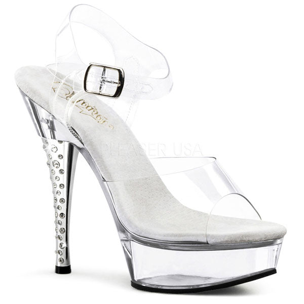 Pleaser DIAMOND-608 Rhinestone Heel Sandal