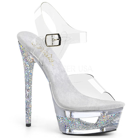 "Eclipse-608GT 6 1/2"" Stiletto Platform Heels"
