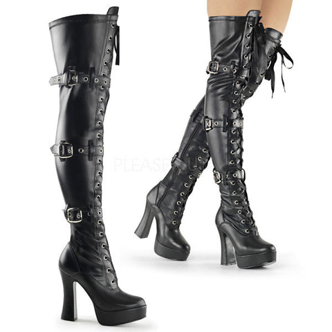 Electra-3028 Thigh High Platform Boots