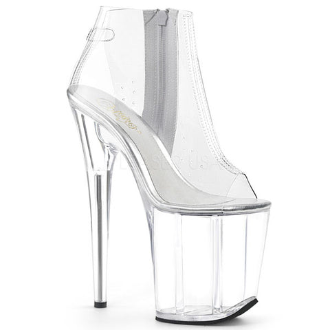 "Flamingo-1023 Clear 8"" Platform Boots"