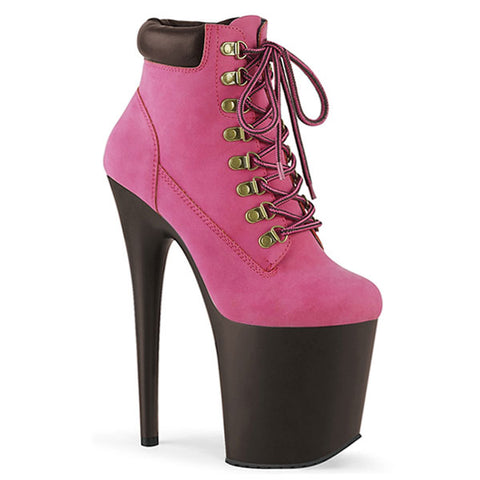"Flamingo-800TL-02 Lace-up 8"" Platform Boots"