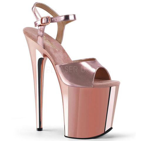 "Flamingo-809 Rose Gold 8"" Platform Sandal"