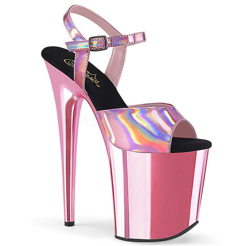 Flamingo-809HG Metallic Platform Sandals