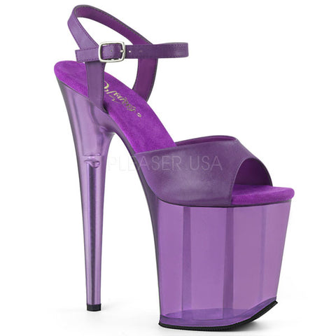 "Pleaser Flamingo-809T Frosted 8"" Platform Heels"