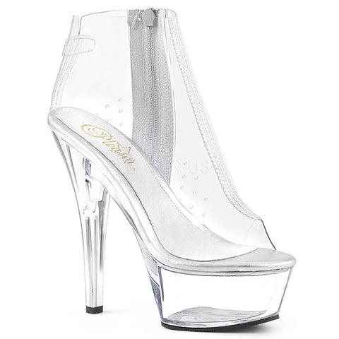 "KISS-1023 Clear 6"" Ankle Boots"