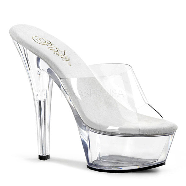 Pleaser KISS-201 Clear Platform Slide
