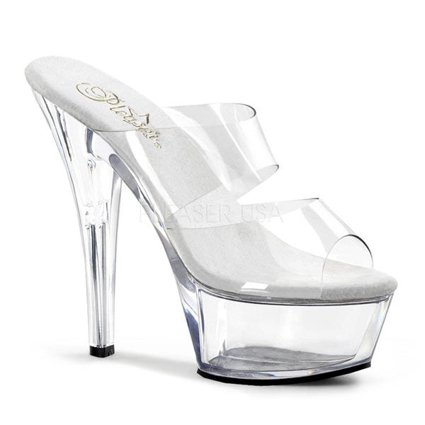 Pleaser KISS-202 Clear Platform Slide